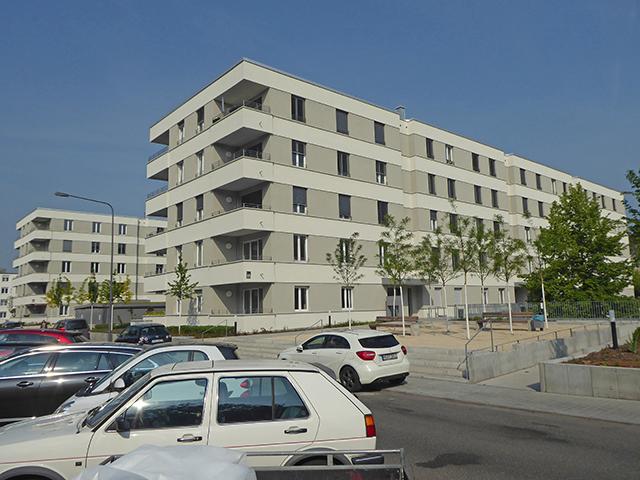 3 Mehrfamilienhäuser und Großgarage, Cordierstraße, Frankfurt, Lagepläne, Bauabsteckungen, Einmessung Gebäude für Katasterkarte, Geodätische Beweissicherung