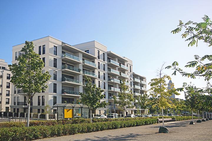 Mehrfamilienhäuser auf Tiefgarage, Liegenschaftspläne zum Bauantrag, Amtliche Gebäudeeinmessungen, Europaviertel, Pariser Straße, Römischer Ring, Frankfurt