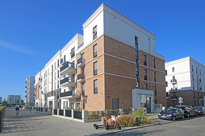 Mehrfamilienhäuser Römischer Ring, Frankfurt, Liegenschaftsplan zum Bauantrag, Gebäudeeinmessung, Aufmaß Wohnfläche zur Kontrolle